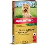 Bayer Адвантикс 40 С для собак до 4 кг (4 пипетки х 0,4 мл)