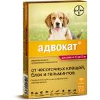 Bayer Адвокат 250 для собак 10-25 кг (3 пипетки х 2,5 мл)