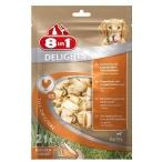 8in1 DELIGHTS XS косточки с куриным мясом для мелких собак 21х7,5 см (пакет)