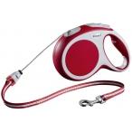 Flexi рулетка VARIO M (до 20 кг) 8 м трос красная
