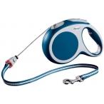 Flexi рулетка VARIO M (до 20 кг) 8 м трос синяя