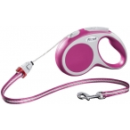 Flexi рулетка VARIO S (до 12 кг) 5 м трос розовая
