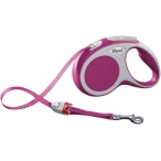 Flexi рулетка VARIO S (до 15 кг) 5 м лента розовая