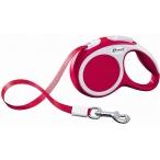 Flexi рулетка VARIO XS (до 12 кг) 3 м лента красная