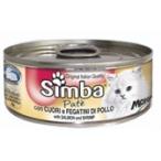 Корм Simba Cat Mousse мусс для кошек сердце/куриная печень, 85 г