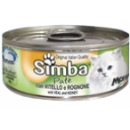 Корм Simba Cat Mousse мусс для кошек телятина/почки, 85 г