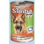 Корм Simba Dog консервы для собак кусочки говядина с овощами, 1.23 кг