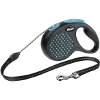 flexi рулетка Design М (до 20 кг) 5 м трос черный/синий горох