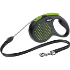 Flexi рулетка Design М (до 20 кг) 5 м трос черный/зеленый горох