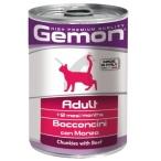 Корм Gemon Cat консервы для кошек кусочки говядины, 415 г