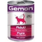 Корм Gemon Cat консервы для кошек паштет говядина, 400 г