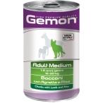 Корм Gemon Dog Medium консервы для собак средних пород кусочки ягненка с рисом, 1.25 кг