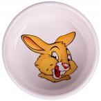 """КерамикАрт миска для грызунов """"Кролик"""", 200 мл, белая"""