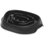Moderna миска Slomo для медленного поедания, 950 мл, черная
