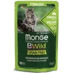 Корм Monge Cat BWild GRAIN FREE (консерв.) для стерилизованных кошек, дикий кабан с овощами, 85г