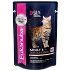 Корм Eukanuba для взрослых кошек, с лососем в соусе, 85 г