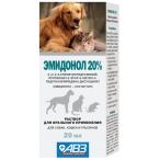 Эмидонол 20% АВЗ (Агроветзащита) раствор для собак, кошек, кроликов и грызунов, 20 мл