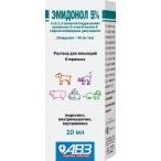 Эмидонол 5% АВЗ (Агроветзащита) раствор для инъекций, для собак, кошек, кроликов и грызунов, 10 мл