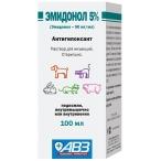 Эмидонол 5% АВЗ (Агроветзащита) раствор для инъекций, для собак, кошек, кроликов и грызунов, 100 мл