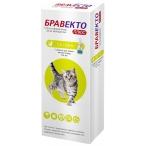 Бравекто (Intervet) Плюс капли на холку от блох и клещей для кошек весом 1.2-2.8 кг, 112.5 мг