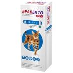 Бравекто (Intervet) Плюс капли на холку от блох и клещей для кошек весом 2.8-6.25 кг, 250 мг