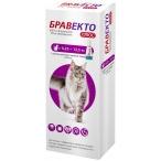 Бравекто (Intervet) Плюс капли на холку от блох и клещей для кошек весом 6.25 - 12.5 кг, 500 мг