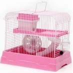 N1 клетка для хомяка укомплектованная, 30х23х25.7 см, розовая
