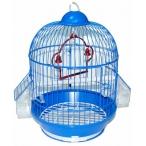 N1 клетка для птиц круглая, укомплектованная, с наружными кормушками, 23х35 см