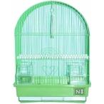 N1 клетка для птиц овальная, укомплектованная, 30х23х39 см