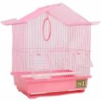 N1 клетка для птиц пагода, укомплектованная, 30х23х39 см