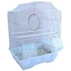 N1 клетка для птиц фигурная, укомплектованная, 30х23х39 см