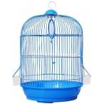 N1 клетка для птиц круглая, укомплектованная, 33х53 см