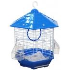 N1 клетка для птиц фигурная, укомплектованная, 35х30х43 см