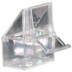 N1 кормушка для птиц пластиковая наружная, прозрачная, 7х4х6 см