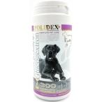 Polidex Glucogextron plus витамины для восстановления хрящевой ткани у собак, 300 таб. (1 таб. на 10 кг массы тела), 334 г