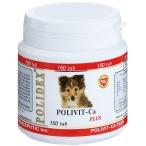 Polidex Polivit-Ca plus витамины для укрепления костей и зубов для щенков, 150 таб. (1 таб. на 5 кг массы тела), 120 г
