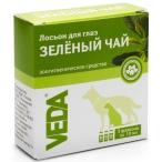 VEDA Лосьон ЗЕЛЕНЫЙ ЧАЙ для обработки глаз для собак, кошек и других мелких домашних животных, 3 фл. по 10 мл, 30 мл