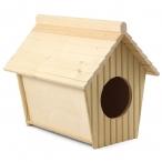 Дом-купалка для шиншил деревянный, 320*255*300мм