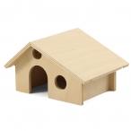 Домик для мелких животных деревянный, 165*130*100мм