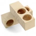 Игрушка-лабиринт для мелких животных деревянный, 135*85*135мм