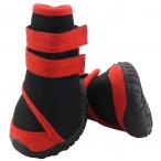 YXS134 M Ботинки для собак черные с красным, 60*55*70мм