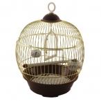 Клетка 23BG для птиц круглая, золото, d230*365мм