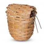Гнездо-корзина для птиц из лозы, d90*100мм