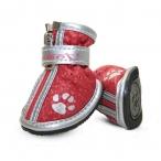 """YXS087-1 Ботинки для собак красные с """"лапками"""", 45*35*45мм"""