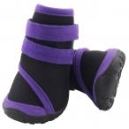 YXS136 XXL Ботинки для собак черные с фиолетовым, 80*75*90мм