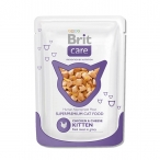 Корм Brit Care Chicken&Cheese Kitten (влажный) для котят, курица и сыр, 80 г