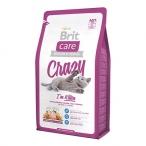 Корм Brit Care Crazy Kitten для котят, беременных и кормящих кошек, с курицей и рисом, 2 кг