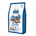 Корм Brit Care Monty Indoor для домашних кошек, с курицей и рисом, 400 г