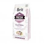 Корм Brit Fresh Chicken&Potato Puppy Healthy Growth для щенков, здоровый рост, курица и картофель, 2,5 кг