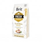 Корм Brit Fresh Chicken&Potato Adult Great Life для собак, курица и картофель, 2,5 кг